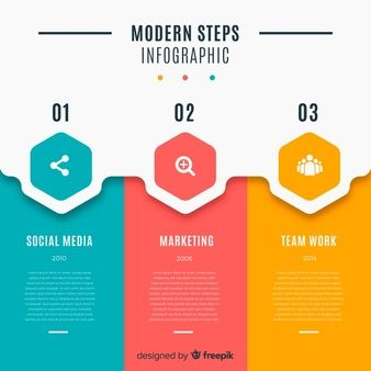 Arrows template for infography Vector | Free Download