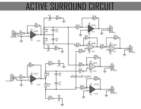 Active Surround Sound Circuit Amfi Elektronik