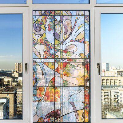 Ebern Designs Non Adhesive Decorative Privac Window Decal Window