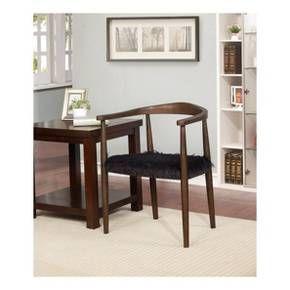 Super Walnut With Faux Fur Accent Chair Project 62 Accent Machost Co Dining Chair Design Ideas Machostcouk
