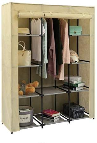 Home Like Portable Wardrobe Bedroom Armoires Clothes Closet Non Woven Fabric War Wardrobe Storage Cabinet Clothes Storage Organizer Portable Wardrobe