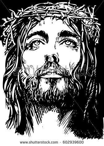 Pin En Jesus Lineal Dibujo