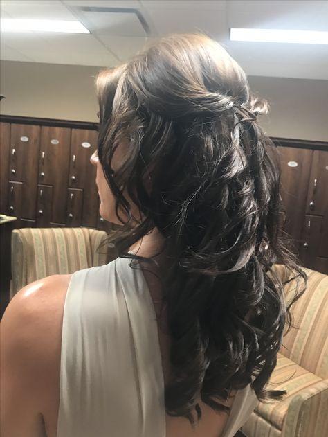 Hair By Beautiful Calgary Bride Wedding Hairstyles Long Hair