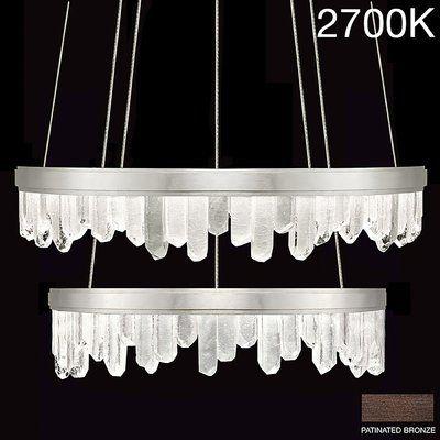Fine Art Lamps Lior 44 Light Unique Statement Tiered Chandelier