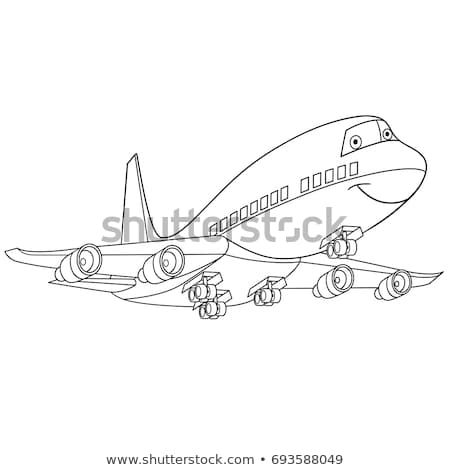 Coloring Page Of Flying Plane Passenger Aircraft Airliner