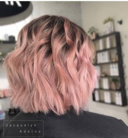 Hair Balayage Dark Roots Short 27 Best Ideas Pink Short Hair Light Pink Hair Short Hair Styles