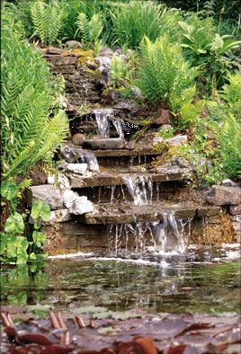 How to Build a Waterfall in Your Garden      Building an Ornamental Cascade with a Pond Pump and Pond Liner