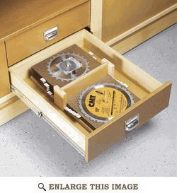 Top Drawer Blade Organizer Woodworking Plan From Wood Magazine Amenagement Atelier Mobilier De Salon Meuble Cuisine