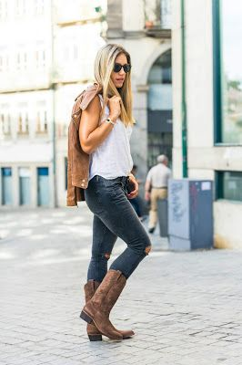 3be38f946c Botas vaqueras con jeans