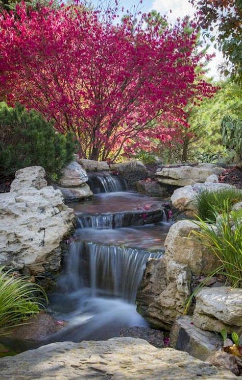 60 Marvelous Backyard Waterfall Garden Landscaping Ideas
