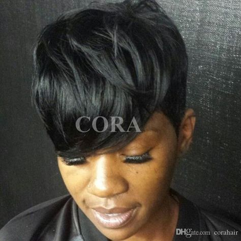 Straight Short Human Hair Wigs For Black Women Brazilian Pixie Human Hair Lace Wigs Full Lace Hair Wigs With Bangs Lace Fronts Wholesale Wigs From Varietyqueenhair, $26.34| DHgate.Com