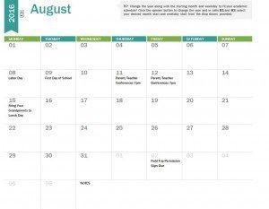 Academic Calendar Template  Review