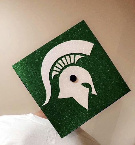 Michigan State Graduation Cap #michigan #michiganstate #graduation #graduationcap