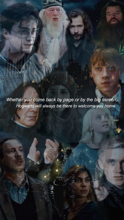 Hogwarts will always be there to welcome you home <3