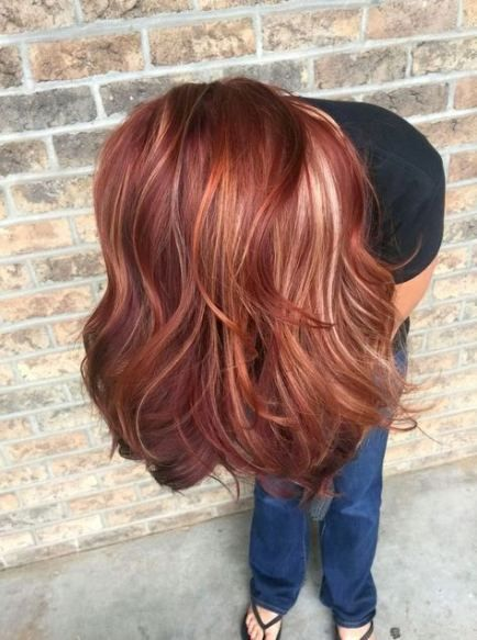 28 Ideas Hair Blonde Color Highlights Red Spring Hair Color Colored Hair Tips Hair Color Rose Gold