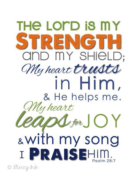 Printable Scripture Art | PSALM 28 Scripture Art Print // Christian Subway Art - Baby Boy Room ...