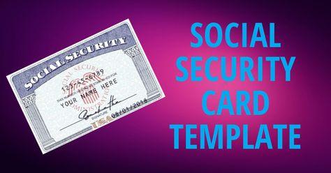Usa Fake Social Security Card Template Psd Social Security Card Cards Security