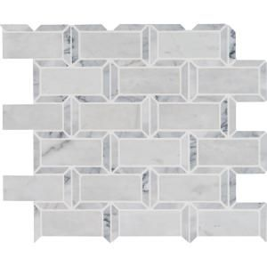 Msi Framework 12 In X 13 5 In X 10mm Polished Marble Mesh Mounted Mosaic Tile 10 99 Sq Ft Case Frmwrk Pol10mm The Home Depot Mosaic Tiles Mosaic Wall Tiles Mosaic