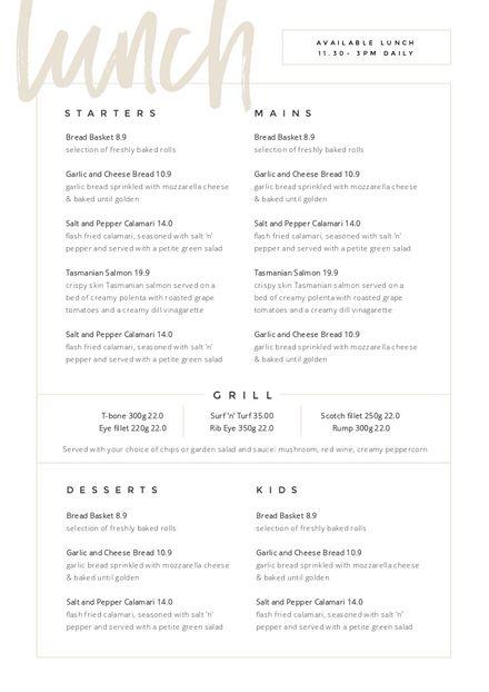 Restaurant Menu Templates - Easil - Easil - -Customizable Restaurant Menu Templates - Easil - Easil - - Foil-Pressed Menus by Minted