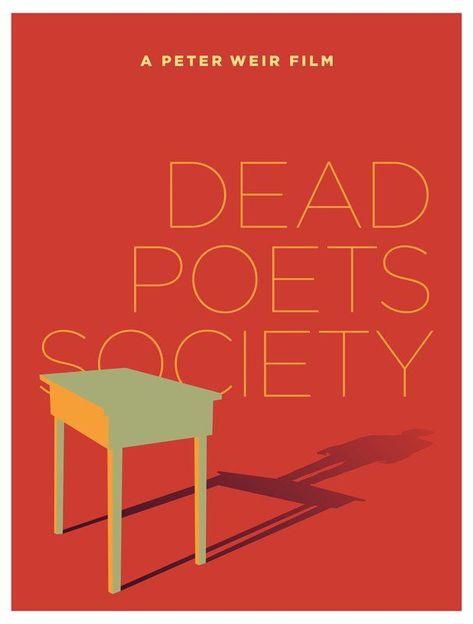 Dead Poets Society 1989 Minimal Movie Poster By Pedro Vidotto