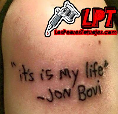 Tattoo Fail : Bon Jovi