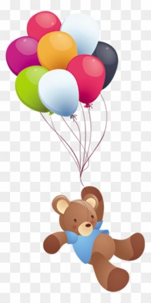 Balloon Animation Clip Art Urso Com Balao Png Full Size Png Clipart Images Download Balloon Illustration Clip Art Its A Girl Balloons