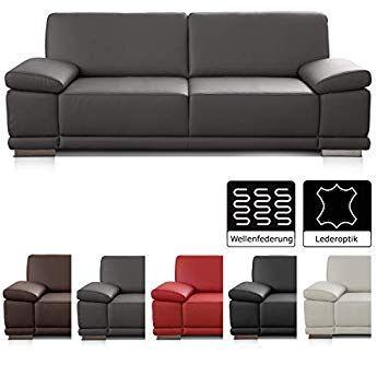Cavadore 2 5 Sitzer Sofa Corianne In Kunstleder Kleine Leder Couch In Hochwertigem Kunstleder Und Modernem Design Mit Armteilfunktion Sofa Couch Sofa Chair