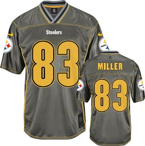 a78f06a9c ... Game Jersey with Pittsburgh Steelers Heath Miller Mens Elite Black Nike  Jersey - 83 NFL Home 1967 Throwback Jerseys