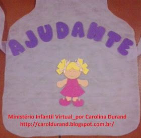 Blog Da Tia Carol Avental De Ajudante Avental Ajudante Do Dia