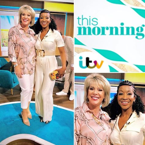 Here I am @thismorning @itv with one half of 📺 Legends awesome couple!🙌🏾 The wonderful 👑 @ruthlangsford ❤️ #thismorning #livetv #tmfashion #ruthlangsford #tvlegend #itv #daytimetv #fashion #style #staceyphipps #model #modelling #realwoman #thisistvc #instapic #picoftheday #tv #instalike #explore #explorepage #sta