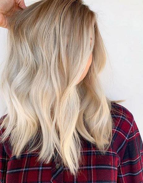 natural level 10 blonde highlights   Hair color, Balayage ...