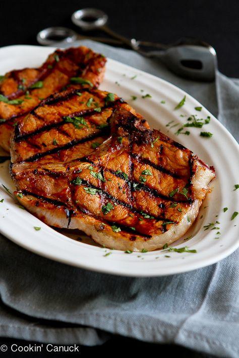 Grilled Pineapple Chili Pork Chops Recipe