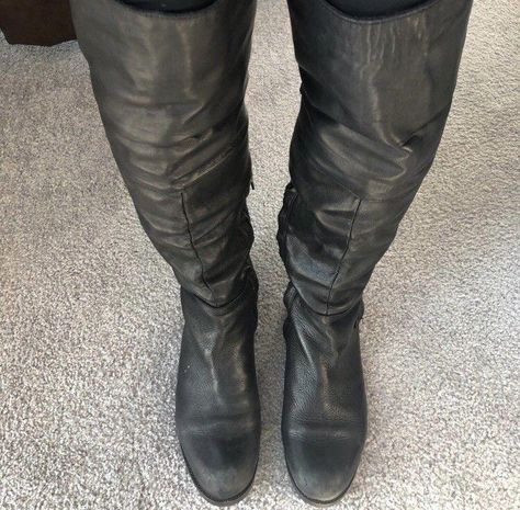 c1bc9e1b93e Steve Madden Black Leather Over The Knee Back Zip Boots  fashion  clothing   shoes  accessories  womensshoes  boots (ebay link)   8.5InWomensshoesIsWhatInMens