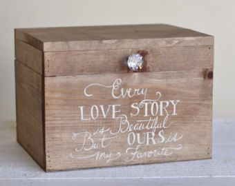 Wedding Card Box Rustic County Barn Hand Painted Keepsake Box Item