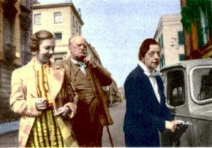 Lady Frieda Harris and Aleister Crowley