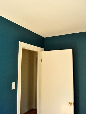 Bold Teal Walls & A Handy How-We-Cut-In Video | Teal walls, Martha ...