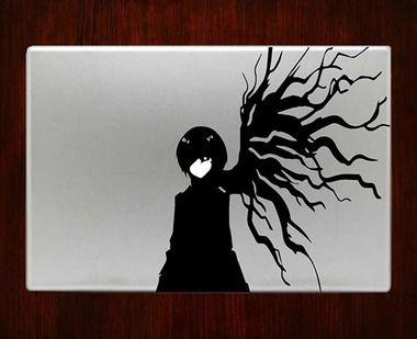 Touka Kirishima Tokyo Ghoul Decal Sticker For Macbook Pro Air Retina 11 13 15 17 Inch Macbook Laptop 1 Easy Appli Touka Kirishima Tokyo Ghoul Dark Anime