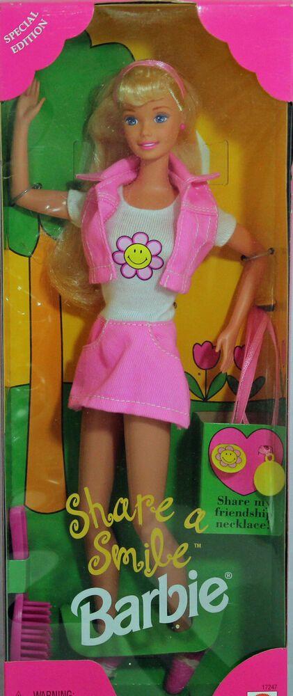MIB NRFB 17247 Share a Smile Barbie 1996