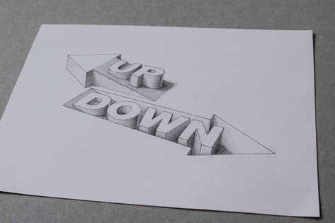 3D Type - Up/Down | Flickr - Photo Sharing!