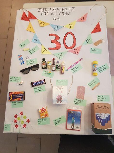 30 Geburtstag Frau Geldgeschenke Geburtstag Geschenke Frauen