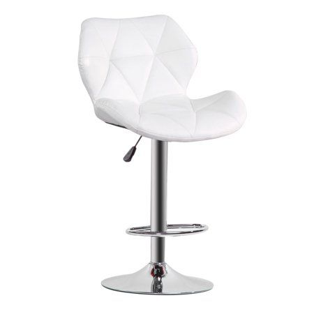 Surprising Modern Pu Leather Adjustable Bar Stools With Back Set Of 2 Caraccident5 Cool Chair Designs And Ideas Caraccident5Info