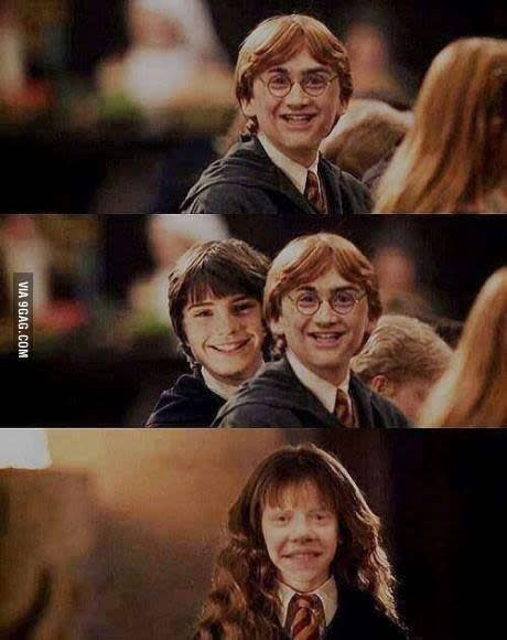 Here Is Why You Should Never Faceswap Harry Ron And Hermione At The Same Time Harry Potter Face Harry Potter Jokes Ron And Hermione