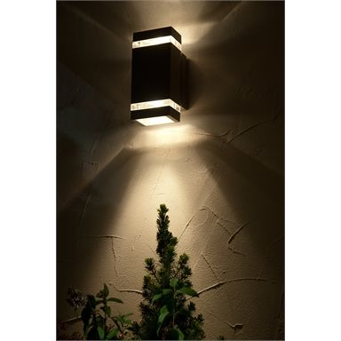 Lutec Focus 7 6w Led Up Down Wall Light Graphite Homebase In 2020 Up Down Wall Light Wall Lights Light