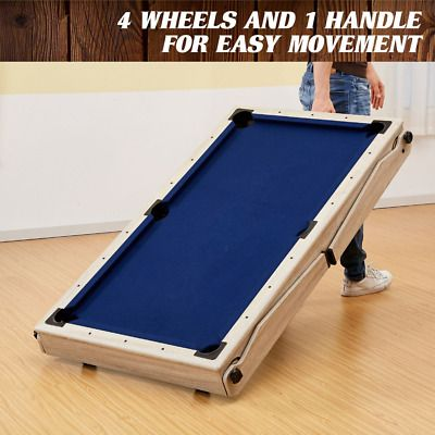 Barrington 60 Folding Pool Table With Cue Set And Accessory Kit 821735300315 Ebay Folding Pool Table Mini Pool Table Pool Table
