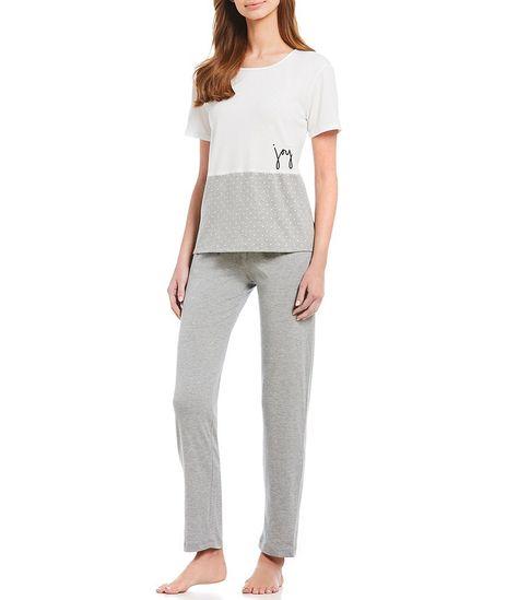bd86cd4ed Ellen DeGeneres Love-Joy Knit Pajama Set