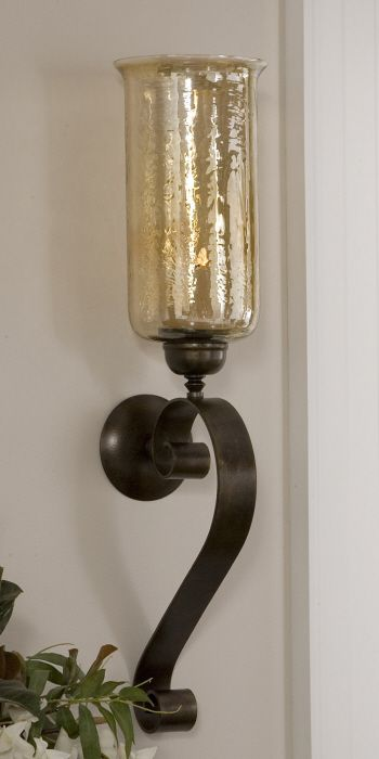 reputable site 7ed05 3a9c4 Uttermost Joselyn Bronze Candle Wall Sconce. Hand forged ...