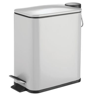 Mdesign Slim 5 Liter Metal Step Trash Can Garbage Bin Rectangular Matte Blush 10 X 5 5 X 11 25 Garbage Containers Metal Steps Kitchen Trash Cans