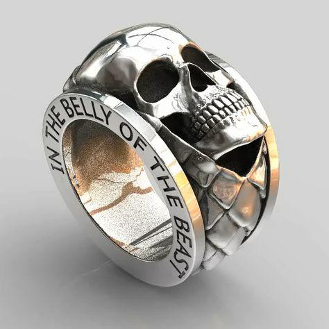 Skull pendants, handmade original sterling silver skull jewellery by London jeweller John Patrick. Unique skull pendant creations from a leading London based designer.