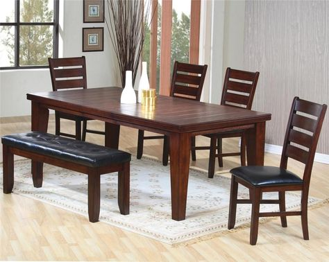 21 Dining Table Set With Bench Ideas, Dining Room Table With 4 Chairs And A Bench