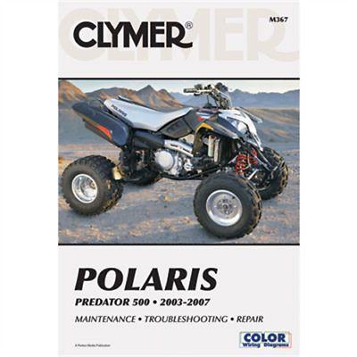Advertisement Ebay Clymer Repair Manuals M367 Polaris Predator 500 2003 2007 Clymer Repair Manuals Predator